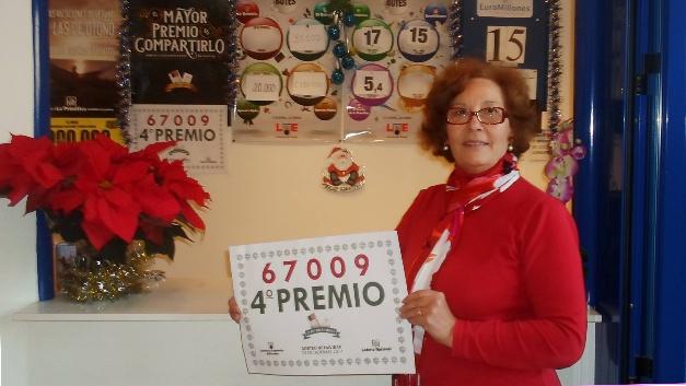 El 67.009, cuarto premio de la Lotería de Navidad, deja ...