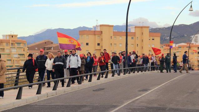 El domingo se celebra en la Costa la IX marcha conmemorativa de La Desbandá