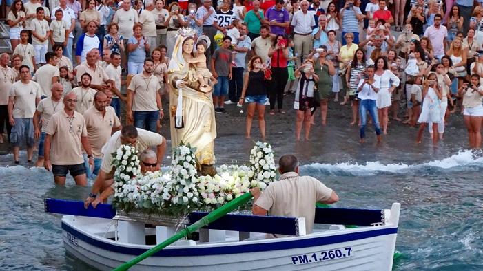 La Caleta y La Guardia esperan con ansias el embarque de la Virgen del Carmen