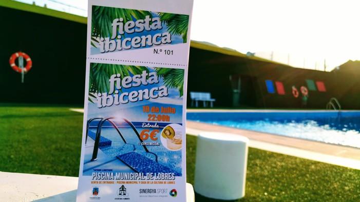 El viernes se celebra una fiesta ibicenca en la piscina de Lobres